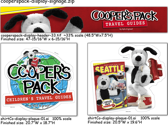 Cooper's Pack Display Signage