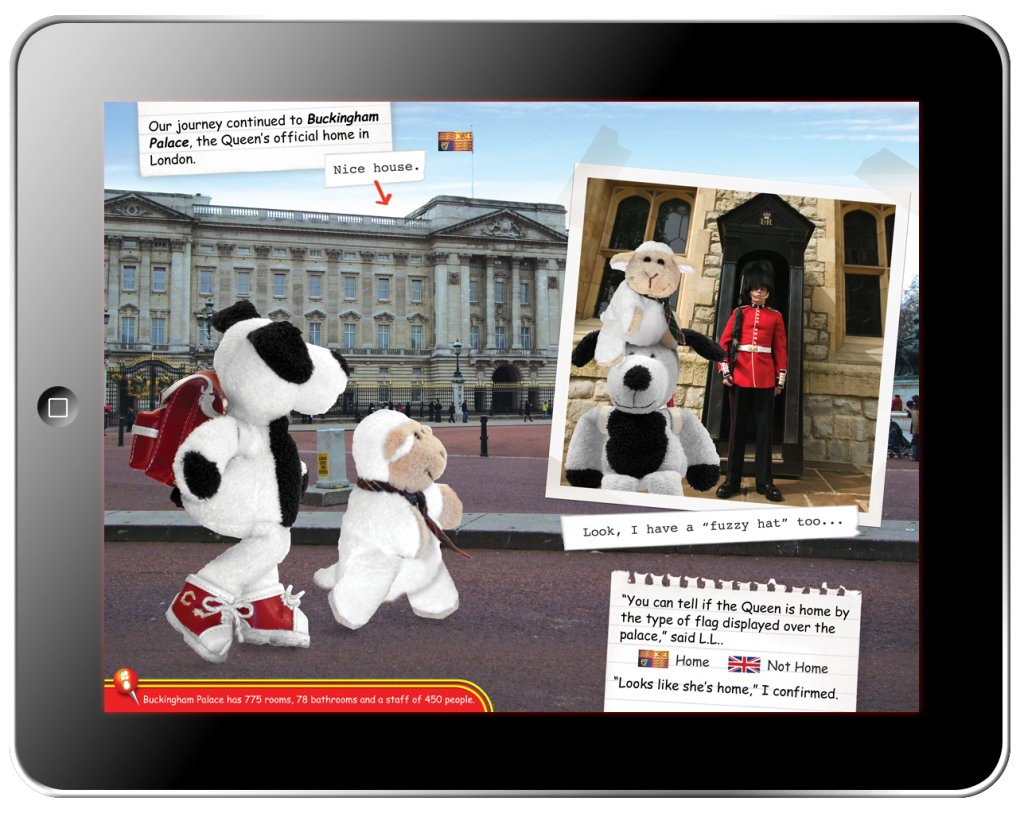 Cooper's Pack Interactive Children's Travel Guide of London - Page Art
