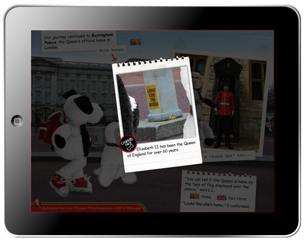 Cooper's Pack Interactive Children's Travel Guide of London - Buried Bones