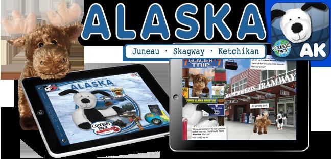 Cooper's Pack Interactive Children's Travel Guide of Alaska